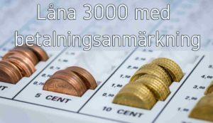 Låna 3000 med betalningsanmärkning
