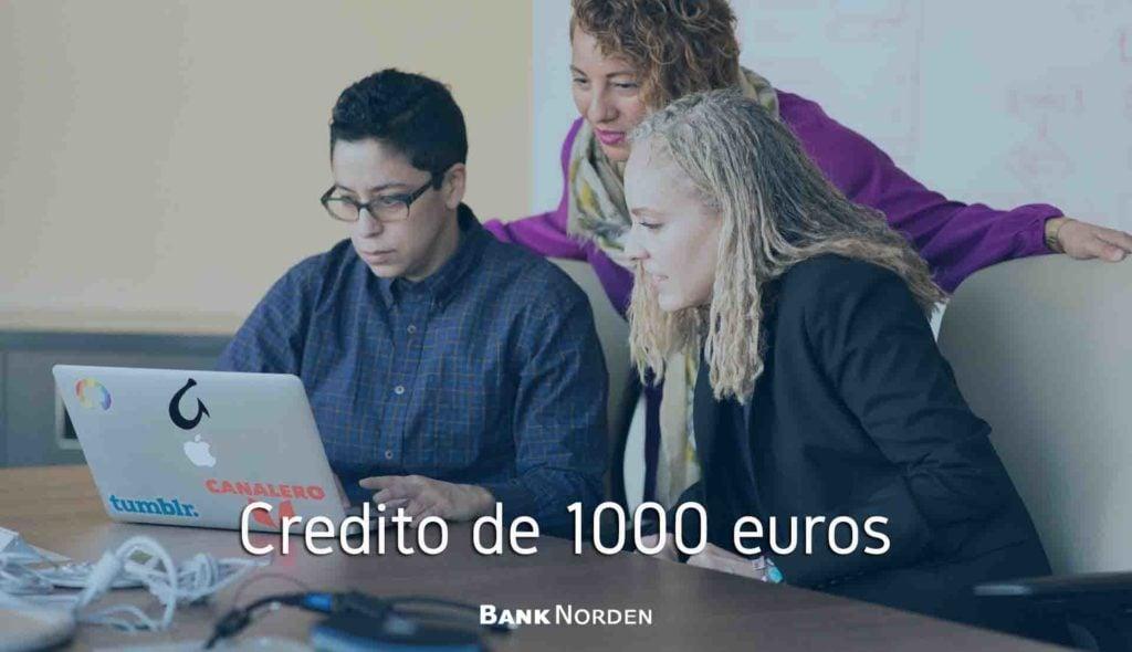 Credito de 1000 euros