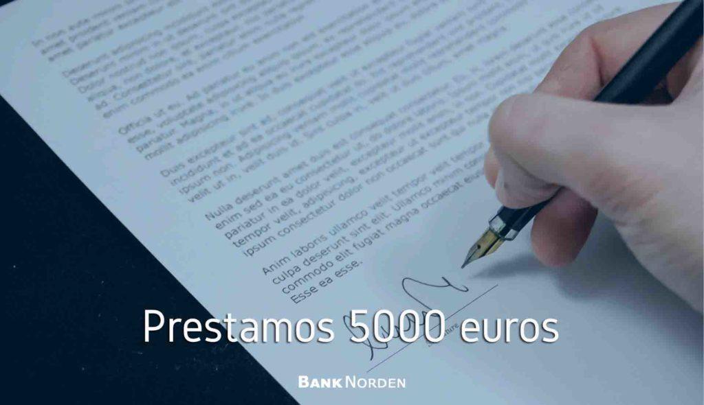 Prestamos 5000 euros