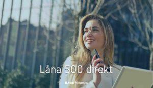 Låna 500 direkt