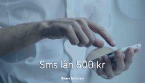 Sms lån 500 kr