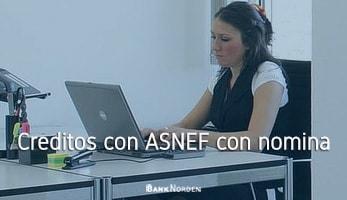 Creditos con ASNEF con nomina
