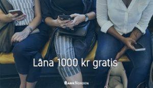 Låna 1000 kr gratis