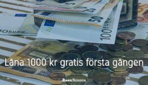 Låna 1000 kr gratis första gången