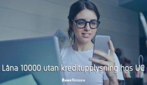 Låna 10000 utan kreditupplysning hos UC