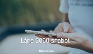 Låna 2000 snabbt