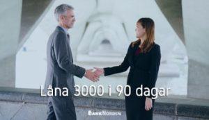 Låna 3000 i 90 dagar