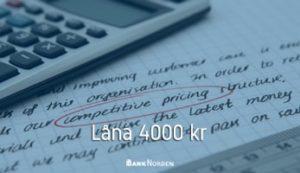 Låna 4000 kr