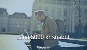 Låna 5000 kr snabbt