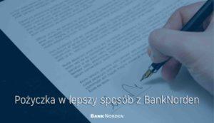 Pożyczka w lepszy sposób z BankNorden