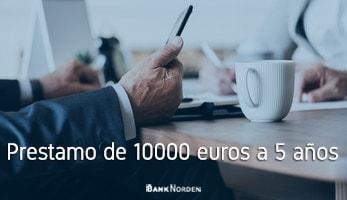 Prestamo de 10000 euros a 5 años