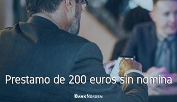 Prestamo de 200 euros sin nomina