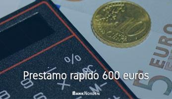 Prestamo rapido 600 euros