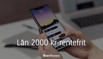 Lån 2000 kr rentefrit