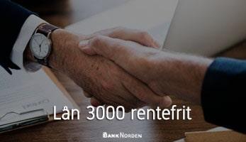Lån 3000 rentefrit