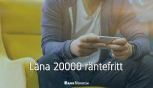 Låna 20000 räntefritt