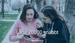 Låna 20000 snabbt