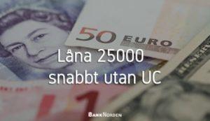 Låna 25000 snabbt utan UC