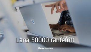 Låna 50000 räntefritt