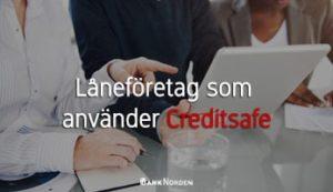 Låneföretag som använder Creditsafe