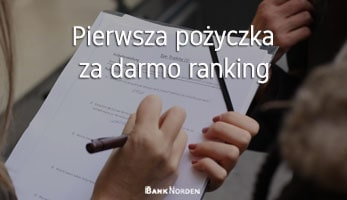 Pierwsza pożyczka za darmo ranking