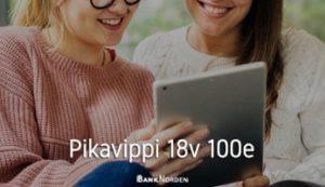 Pikavippi 18v 100e