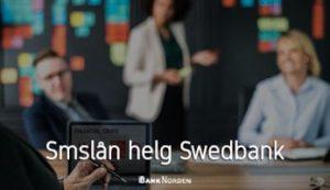 Smslån helg Swedbank