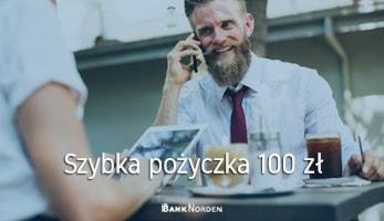 Szybka pożyczka 100 zł