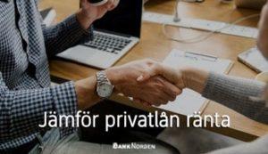 Jämför privatlån ränta
