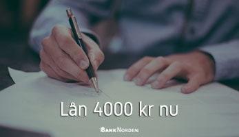 Lån 4000 kr nu