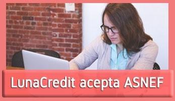 LunaCredit acepta ASNEF