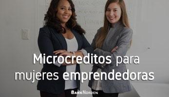 Microcreditos para mujeres emprendedoras