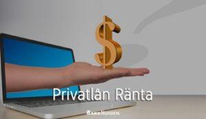 Privatlån Ränta