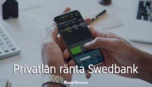 Privatlån ränta Swedbank
