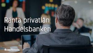 Ränta privatlån Handelsbanken