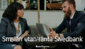 Smslån utan ränta Swedbank