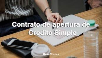 Contrato de apertura de Credito Simple