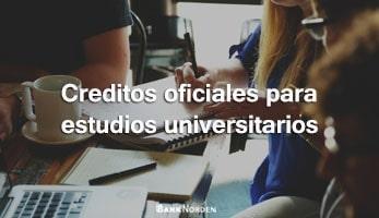 Creditos oficiales para estudios universitarios