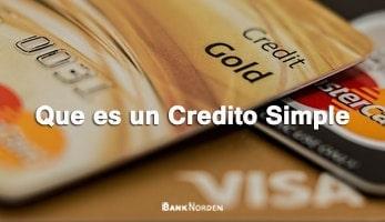 Que es un Credito Simple
