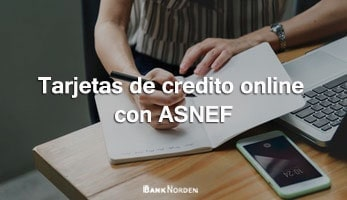 Tarjetas de credito online con ASNEF