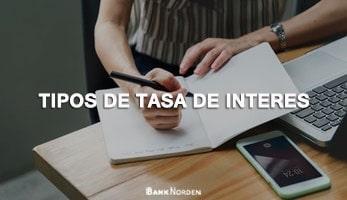 Tipos de tasa de interes