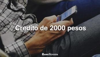 Credito de 2000 pesos