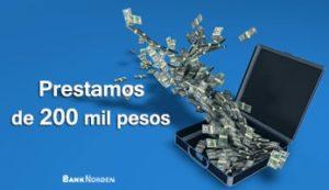 Prestamos de 200 mil pesos