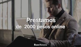 Prestamos de 2000 pesos online