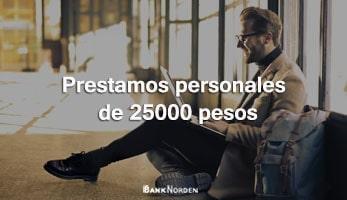 Prestamos personales de 25000 pesos