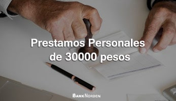 Prestamos personales de 30000 pesos