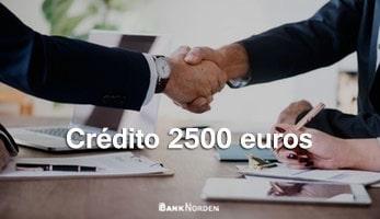 Crédito 2500 euros