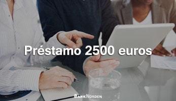 Préstamo 2500 euros