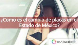 cambio de placas Estado de Mexico